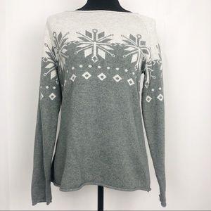 Eddie Bauer Fair Isle Print Sweater
